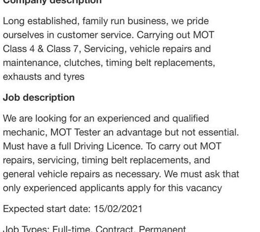 KB Tyres is looking for an experienced q...