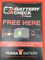 Battery health checks carried out, whils...