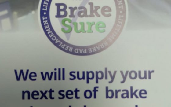Next time you need your brakes replacing…